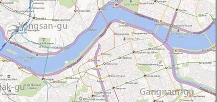 Bing Maps has been updated with detailed maps of Korea